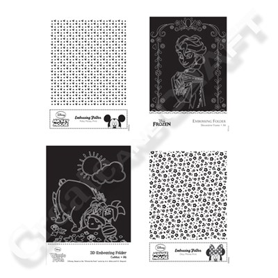 Disney A6 Embossing Folder Assortment 4 Pack