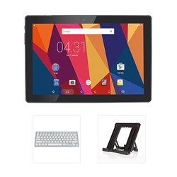 Hannspree Hannspad 101 Hercules 10.1 Inch Tablet with Tablet Stand and Bluetooth Keyboard