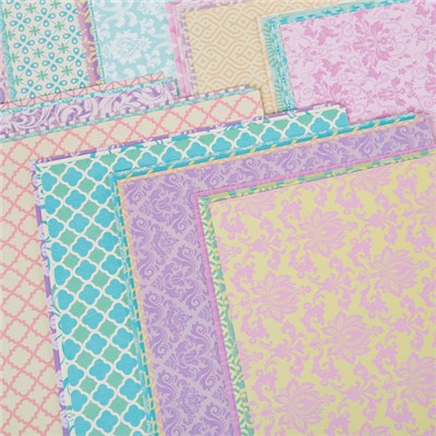 Create and Craft A4 Pastel Pearlescent paper - Pack 40
