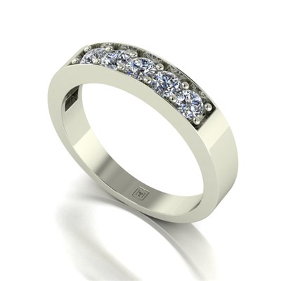 Moissanite 9ct Gold 0.50ct eq Lady Lynsey 5 Stone Ring