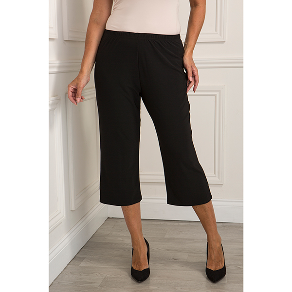Reflections Cropped Trousers Black