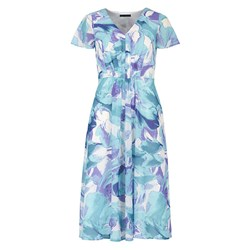 David Emanuel Floral Fit and Flare Dress 41in