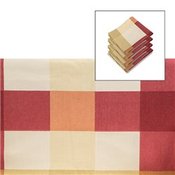 Brittany Check Tablecloth 68 inch Round with Matching Napkins