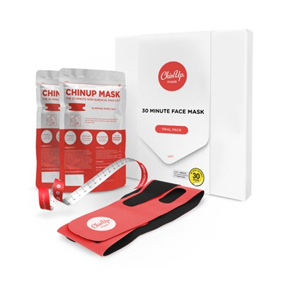 ChinUp 30 Minute Mask 2 Treatment Trial Pack (One Slimming Band, Two ChinUp Masks and One Tape Measure)