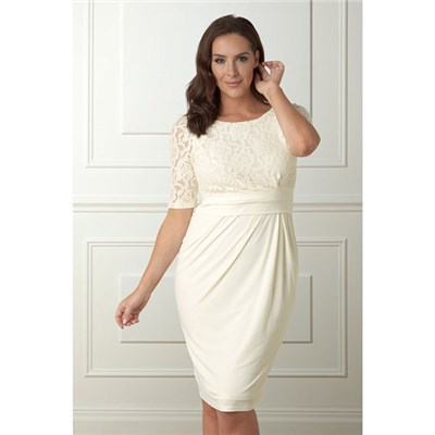 Lace Top Jersey Dress