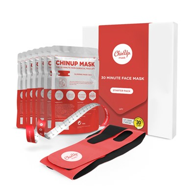 ChinUp 30 Minute Mask Two Week Challenge Pack (One Slimming Band, Seven ChinUp Masks and One tape measure)