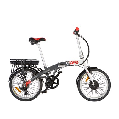 ELife Voyage 6sp 36v 250w Electric Folding Bike 20inch Wheel