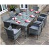 Premium Rattan 8 Seater Rectangular Dining Set