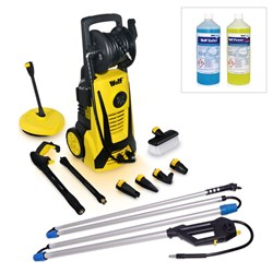Wolf Blaster with Sky Reacher Lance, Patio Cleaner, Turbo Nozzle, Vario Nozzle, Angled Nozzle and Wash Brush and FREE 2 x 1L Detergents