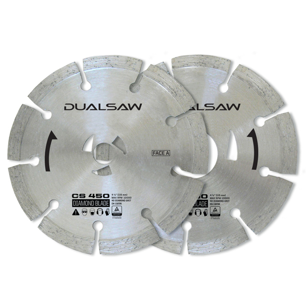Dual Saw Set of 2 Diamond Blades No Colour