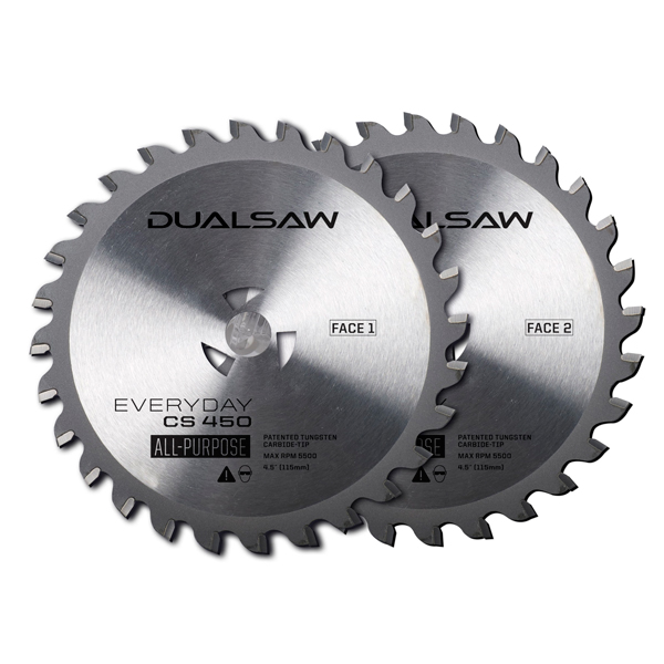 Dual Saw Set of 2 Tungsten Blades No Colour