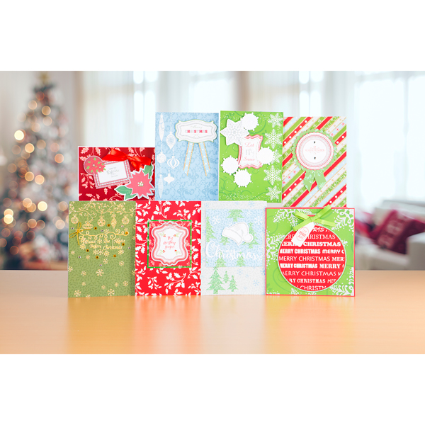 Create and craft glistening glitter christmas card kit for Create and craft tv reviews
