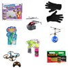 Christmas Fun Toy Bundle - Bubble Gun, Hoverball, Helicopter, LED Gloves, Sticker Tastic, Touchable Bubbles, Nano Drone Pro and 12 x AA Batteries No Colour