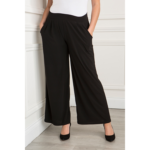 Styled By Palazzo Trousers Black