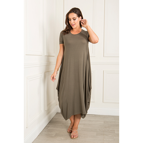 Daisy Eldridge Fit And Flatter Dress Khaki