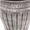 Pair Large 13.5 inch (34cm) Fluted Floral Planter - Silver No Colour