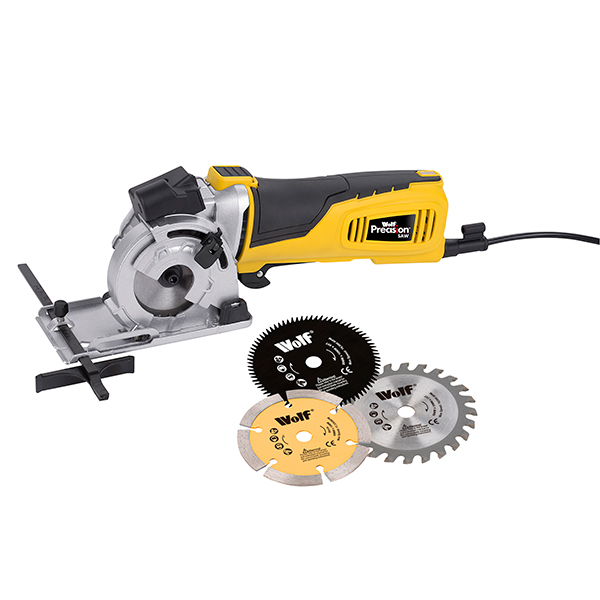 Wolf Laser Guided Precision Saw with 3 Blades No Colour