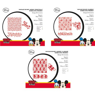 Disney Vintage Embossing Folder Range