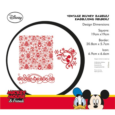 Disney Vintage Baubles Embossing Folder Set