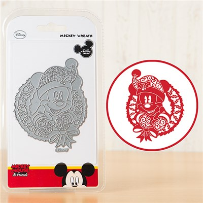 Disney Vintage Mickey and Wreath Die