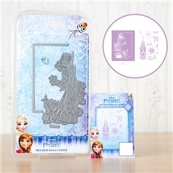 Disney Frozen Melded Elsa Castle Die with Stamp Set