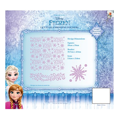 Disney Frozen Let it Go Embossing Folder Set