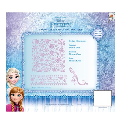 Disney Frozen Snowflakes Embossing Folder Set