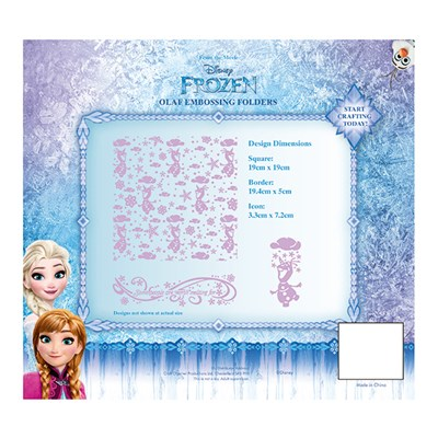 Disney Frozen Olaf Embossing Folder Set