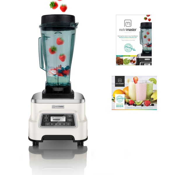 Nutrimaster Blender Pro with Recipe Book, DVD & 3 Years Warranty Almond