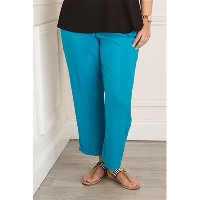Elasticated Waist Viscose Trouser
