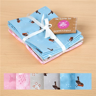 Christmas Robin Fat Quarters 6 Pack