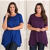 Nicole Two Pack Sharkbite Tunic Royal Purple