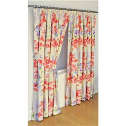 Wendy Tait Ariel 66 inch Width Tape Header Lined Curtains