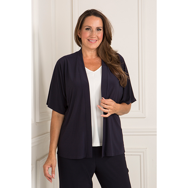 Reflections Cover Up Jacket Navy