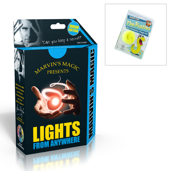 Marvins Magic Lights from Anywhere with Bonus Magic Worm No Colour
