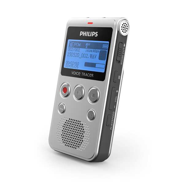 Philips Voice Tracer DVT1300 Voice Recorder with Dragon Naturally Speaking Transcription Software No Colour