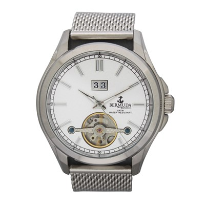 Bermuda Gents Devonshire Automatic Watch with Open Heart and Milanese Strap