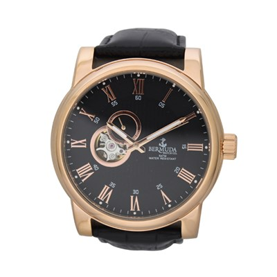 Bermuda Gent's St. George Automatic Watch with Leather Strap