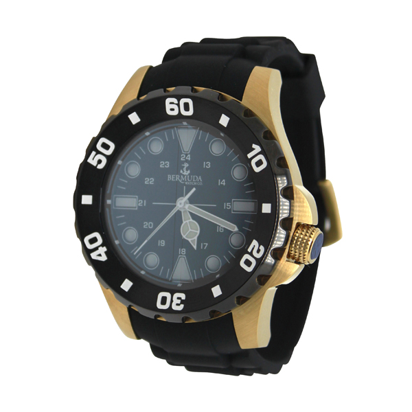 Bermuda Gent's Shelly Bay Smart Light Watch with Silicone Strap Gold