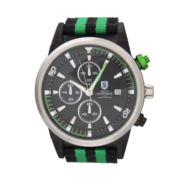 Bermuda Gents Reuben Chronograph Watch with Nylon Strap Green