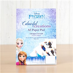 Disney Frozen A5 Colourful Creations Paper Pad