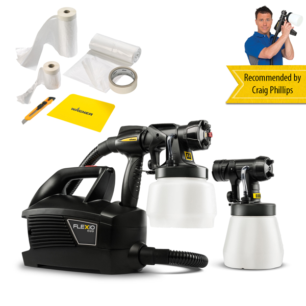 Wagner Universal Sprayer W699 Flexio with Premium Masking Kit No Colour