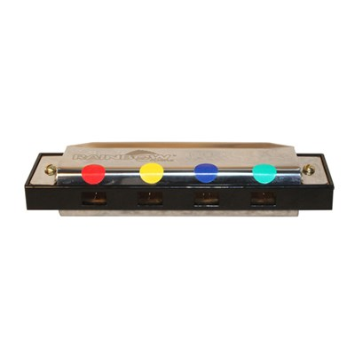 Rainbow Colours Harmonica Set