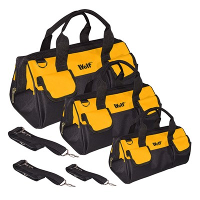 Wolf Set of 3 Heavy Duty Tool Bags