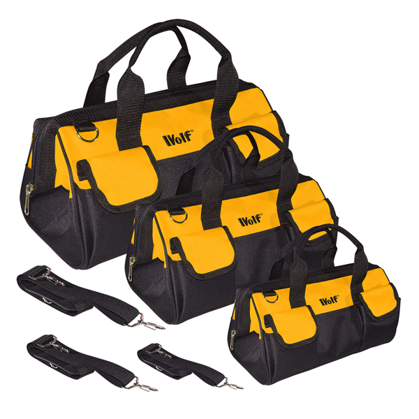 Wolf Set of 3 Heavy Duty Tool Bags 377435