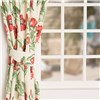 Poppies 3 inch Tape Header Lined Curtains No Colour