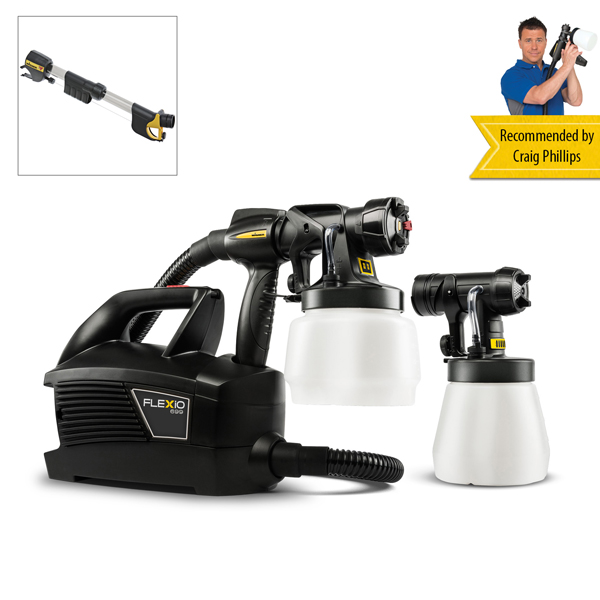 Wagner Universal Sprayer W699 Flexio with 2 Attachments and Handle Extension No Colour