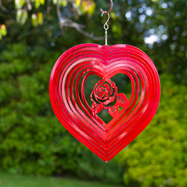 Heart Rose Spinner No Colour