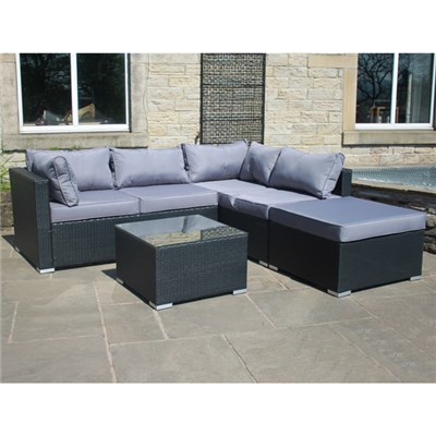 Rattan Effect Windsor Right Corner Sofa