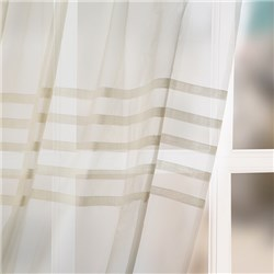 Pleated 59 inch Width Pair of Voile Panels